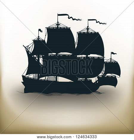 Old Ship Pictogram