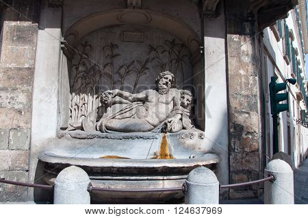 The Quattro Fontane and the River Arno. RomeItaly.