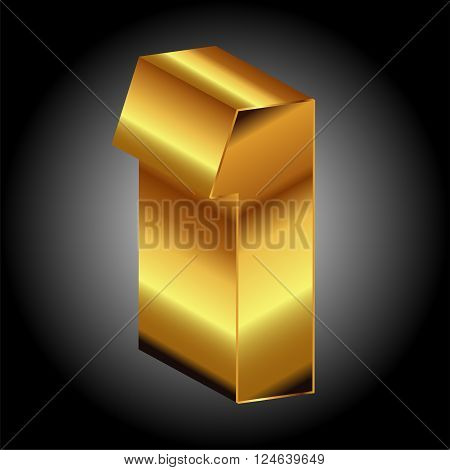 Golden 1 vector 3d Golden 1 vector 3d vector design template