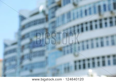 Multi-storey building, blurred background