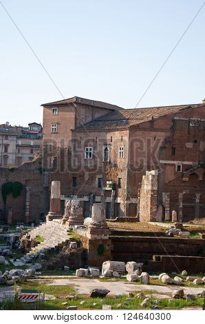 Forum of Augustus in the Imperial Fora Rome Italy.