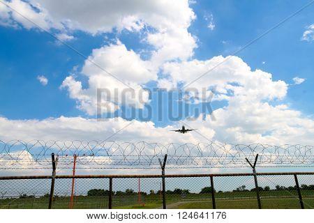 Airplane landing at the air port THAILAND