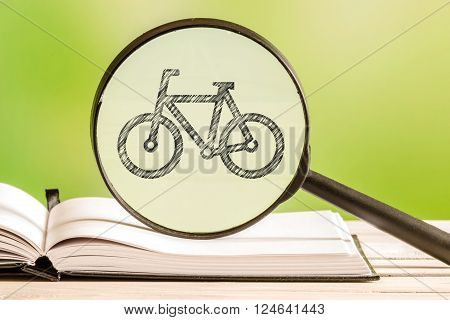 Bike Search With A Pencil Drawing