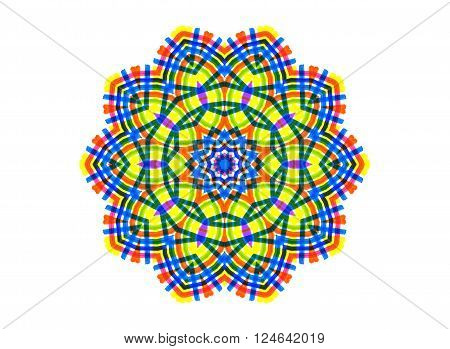 Abstract bright color shape on white for design