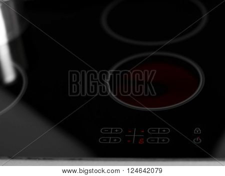 Modern electrical hob background