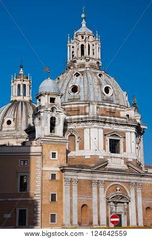 Santa Maria di Loreto. Rome Italy in the citi down town.