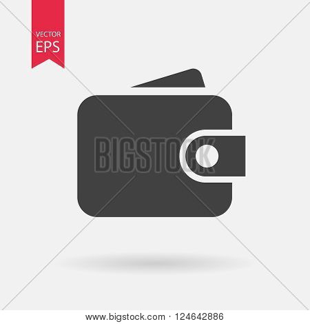 Purse icon vector, Wallet icon flat design.