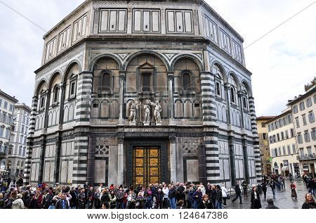 FLORENCE-NOVEMBER 10: St. Giovanni Baptistery on November 10 2010 in Florence Italy.