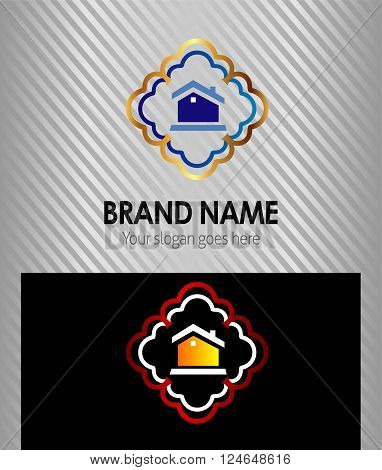 House Real Estate icon logo vector design template