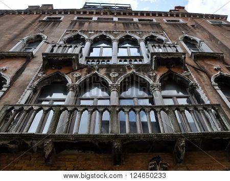 Casanova's house in Venice Italy.in the citi
