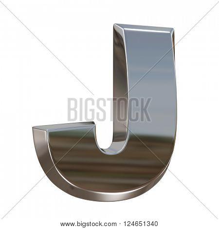 Alphabet letter from chrome. isolated on white.