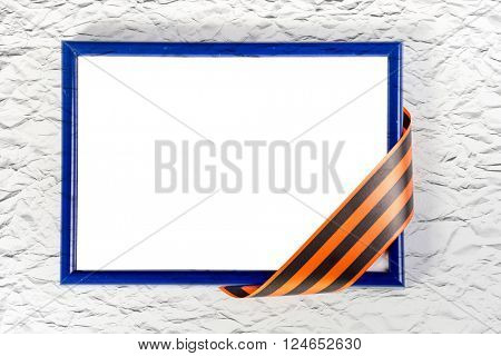 Photo frame with  St. George's ribbon