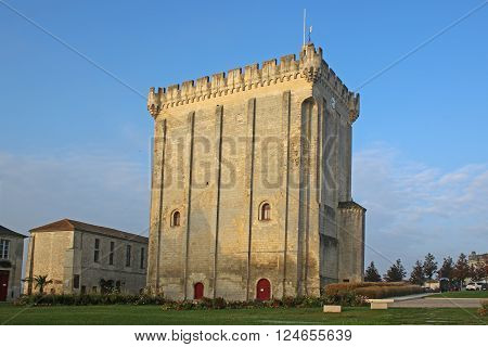 castle keep in the town of Pons, France ** Note: Soft Focus at 100%, best at smaller sizes