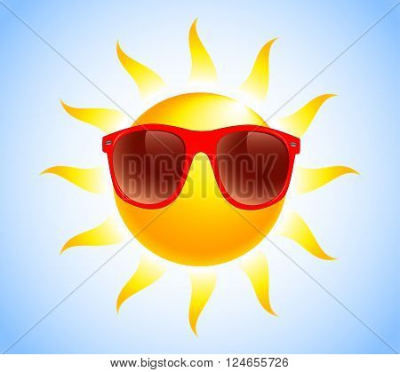 Summer Sun Sunglasses vector illustration Summer Sun Sunglasses vector illustration