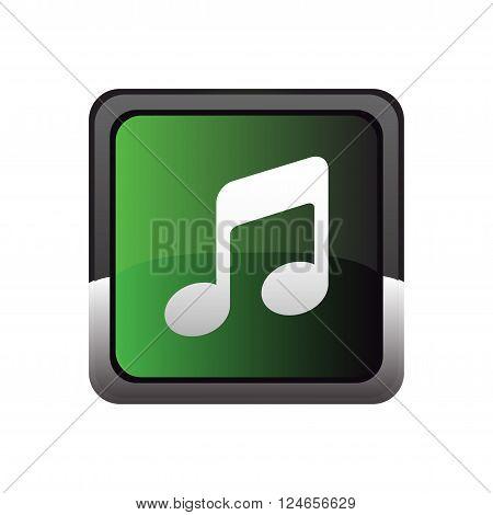 Music button icon vector vector design template