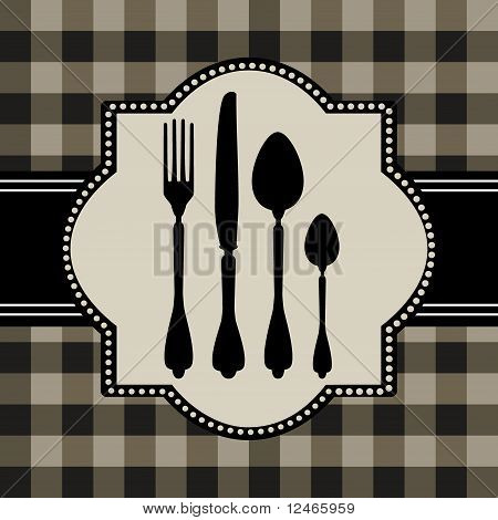 Menu card design with cutlery