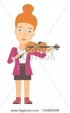 Woman playing violin.