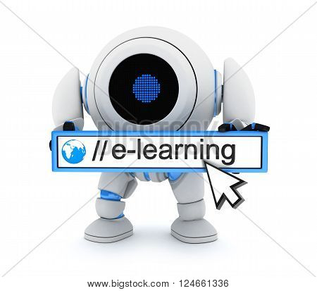 robot and sign e-learnning (done in 3d)