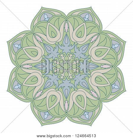 Vector Mandala. Oriental decorative element. Islam Arabic Indian turkish pakistan chinese ottoman motifs. Ethnic design elements. Hand drawn mandala. Colorful mandala symbol for yor design.