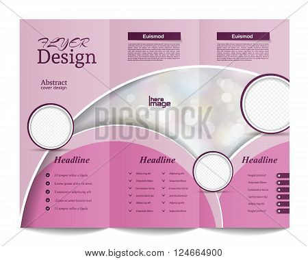 Tri-fold Brochure Template.corporate Business Background Or Cover Design Can Be Use For Publishing,