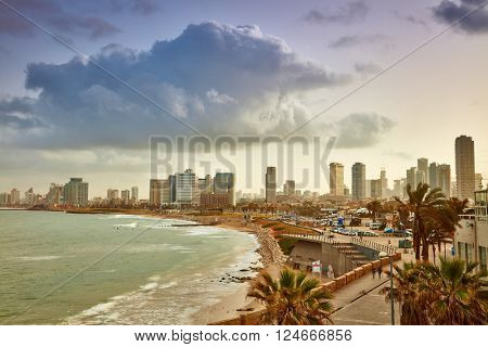 Tel Aviv, Israel. View from Jaffa at sunrise