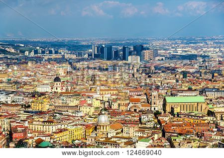 View of Naples towards the Centro Direzionale and Napoli Centrale - Italy