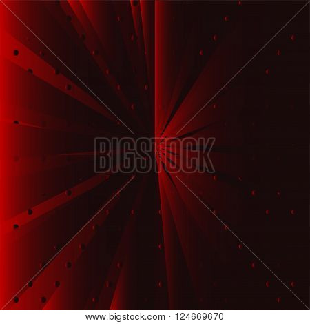 Red ray background vector design template dark