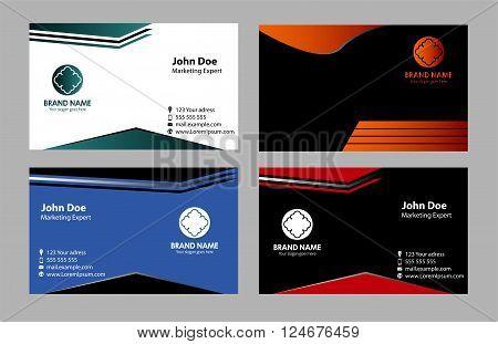 Vector business card templates vector design template
