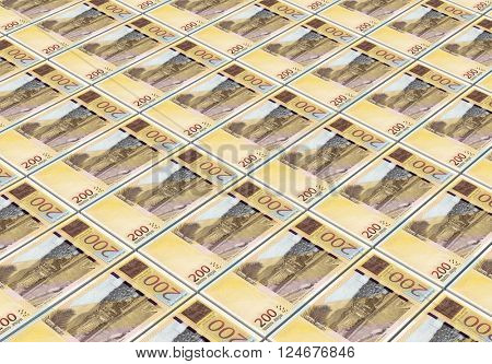 Georgian lari bills stacks background. 3D illustration.