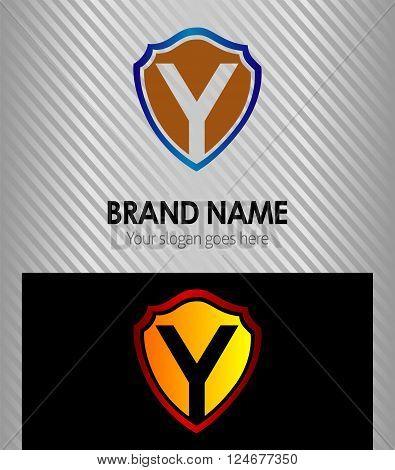 Y Letter Y Letter vector icon logo