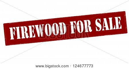 Rubber stamp with text firewood for sale inside vector illustration`