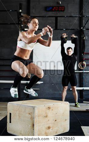 Jump-box in gym