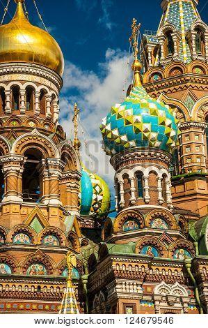 Church of the Savior on Blood in Saint-Petersburg, Russia. One of the main touristic attractions in the city.
