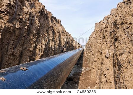 Pipeline Is In The Protective Insulation