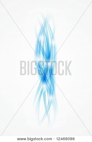 Vector blue smoke background