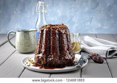 Sticky Toffee Pudding on Plate