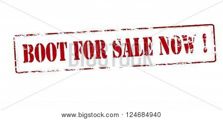 Rubber stamp with text boot for sale now inside vector illustration`