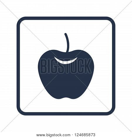 Apple Icon In Vector Format. Premium Quality Apple Icon. Web Graphic Apple Icon Sign On Blue Round B