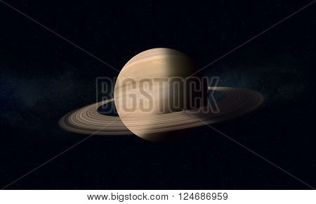 Gas Giant With Rings Saturn
