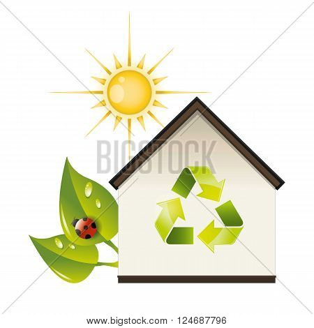 a plotting for good ecological recycling house