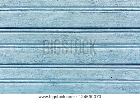 Weathered Light Blue Hangar Wall.