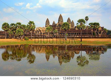 Angkor Wat temple in Siem Reap, Cambodia