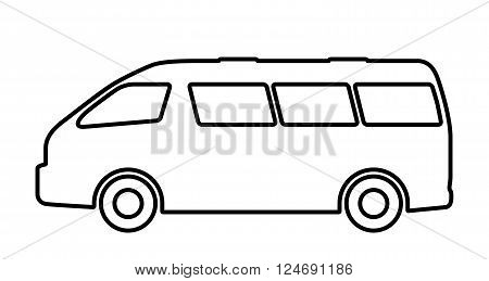 Vector illustration set of silhouettes of passenger cars.
