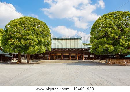 Imperial Meiji Shrine located in Shibuya, Tokyo shrine that is dedicated to the deified spirits of Emperor Meiji and his wife, Empress Shoken