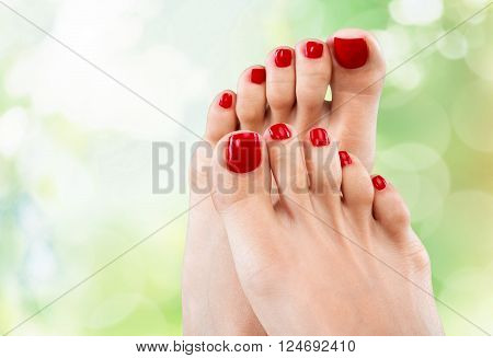 Pedicure toes.