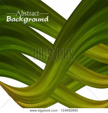 Creative abstract background for your design. Vector illustration. Green and golden colors