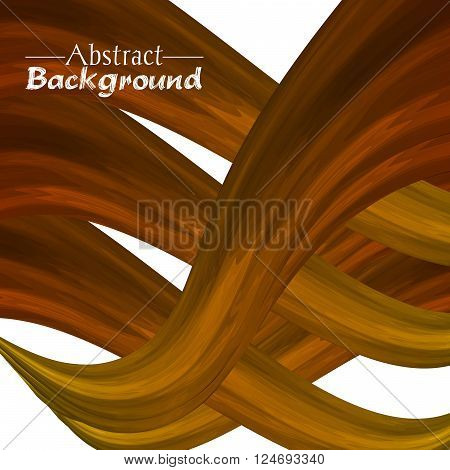 Creative abstract background for your design. Vector illustration. Brown and golden colors