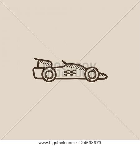 Race car sketch icon.