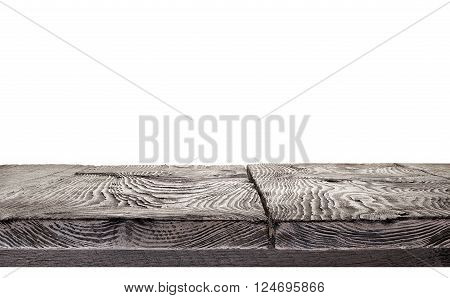 Wooden panel of boards isolated on white background