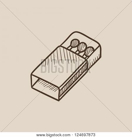 Matchbox sketch icon.